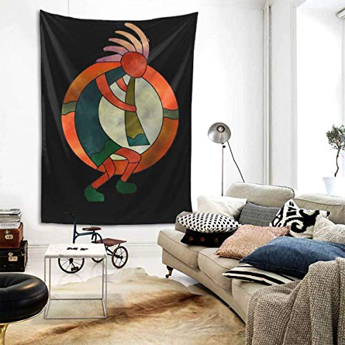 Meet You Vintage Christmas Cardinal Parrot Xmas Poinsettias Tapestry Wall Decor Hanging for Dorm Party Bedroom/Living Room Home Decorations Polyester 80w X 60l Inches