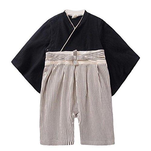 Meijunter Baby Jungen Stramplers Jumpsuits Hakama Style Kimono Suit Top Hosen Sets Säugling Kleinkind Babysuit Lange Ärmel Winter Herbst Overalls Kleider Outfits 9-18 Monate