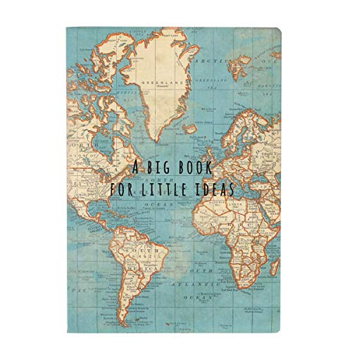 Sass & Belle- Libreta Vintage Mapa Mundi, Color Azul (CR145)