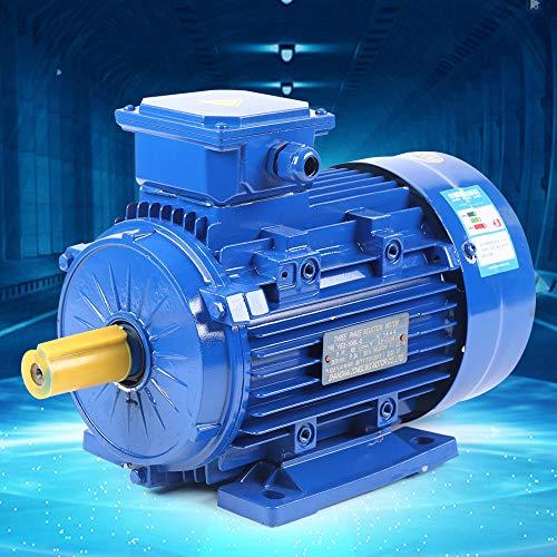 Berkalash 3Phase Wechselstrommotor, Elektromotor Asynchronmotor Drehstrommotor Kraftstrommotor Energiesparmotor, B3 2-polig Electric Motor (3KW)