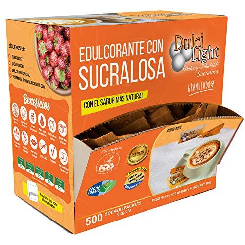 SUCRALOSA Ecologica Natural Edulcorante Granulado Dulcilight 600 SOBRES,...