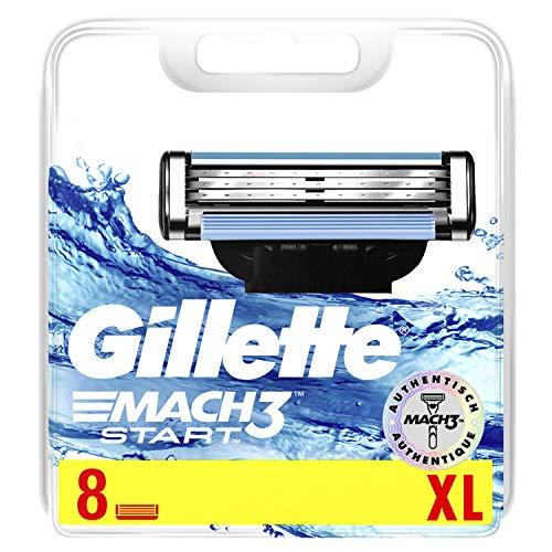 Gillette Mach3 Start Rasierklingen, 8 Ersatzklingen für Nassrasierer Herren mit 3-fach Klinge