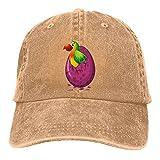 huatongxin Loros Verdes Que Nacen de Huevos Gorras de Vaquero de béisbol Natural Sombreros de Mezclilla Unisex Ajustables Deporte al Aire Libre