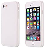iPhone SE Waterproof Case, Super Slim Thin Light [360 All Round Protective] Full-Sealed IPX-6 Waterproof Shockproof Dust/Snow Proof Case Cover for iPhone SE/5s/ 5 (White)