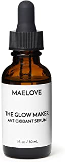 MAELOVE Moisturizing Face Serum with Vitamins C and E, Ferulic Acid and Hyaluronic Acid. Vegan and Natural