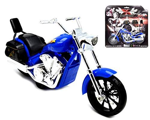 VENTURA TRADING 21cm Chopper Motorrad Reibungsgetrieben Maßstabgetreues Modell Motorrad Spielzeug Motorrad