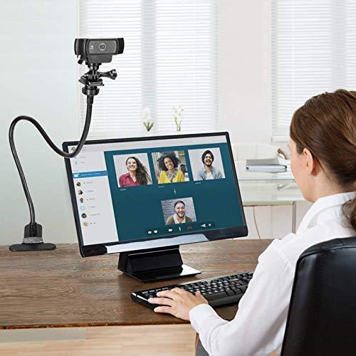 Minimei Soporte de cámara web Soporte de cámara Soporte de escritorio flexible Clip de abrazadera de cuello de cisne para cámaras de red 14 teléfonos móviles y tabletas durable