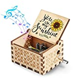 Hexagram You are My Sunshine Music Boxes Gift, Laser Engraved Sunshine Wooden Musical Box Gifts for Birthday/Valentine's Day/Christmas