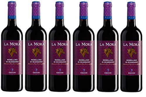 - 6 Bottiglie - Morellino di Scansano DOCG 750ml Cecchi La Mora (anno 2019)