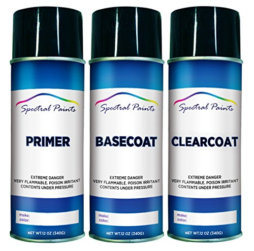 Spectral Paints Compatible/Replacement for Toyota 3T3 Ruby Flare Pearl 12 oz. Aerosol Primer Spray Paint and Clear Coat