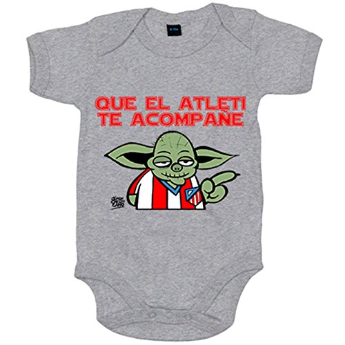 Body bebé Atlético de Madrid que el Atleti te acompañe - Gris, 12-18 meses