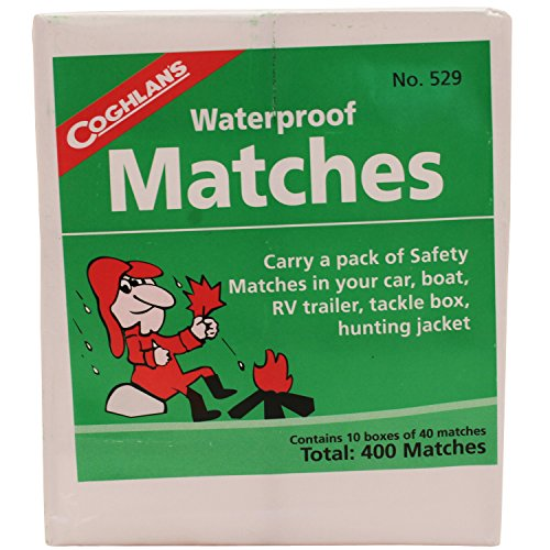Our #3 Pick is the Coghlans Waterproof Matches 10 Pack