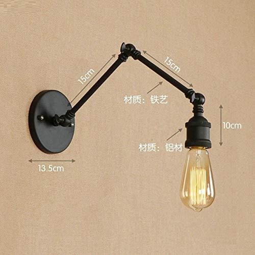 Vintage buitenwandlampen, vintage, instelbare retro-led-wandlampen, voor thuis of in de tuin, industriële wandlamp, vintage wandlamp