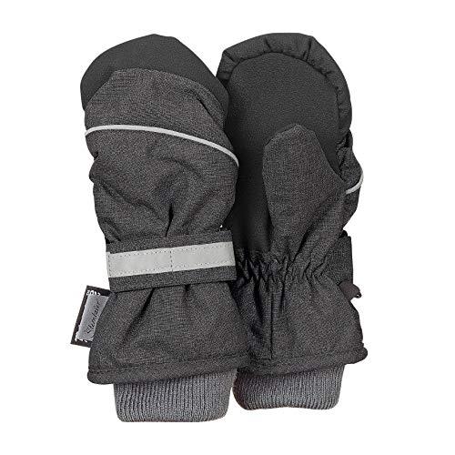 Sterntaler Sterntaler - Jungen Fäustlinge Handschuhe wasserdicht mit reflektierendem Klettverschluss einfarbig und verstärkten Handflächen, anthrazit mel. - 4321803, Größe 4