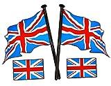 AUFKLEBER Set Türkei Turkey England Union Jack Russland russische Fahne Flagge Sticker Autoaufkleber Auto Car (Großbritannien Flagge)