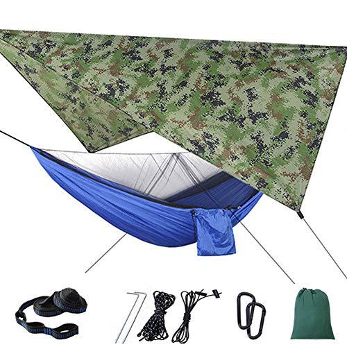 Outdoor Reishangmat Met Klamboe/Waterdicht Zonnescherm, Draagbare Camping Hangmat Maximale Belasting 200Kg,3