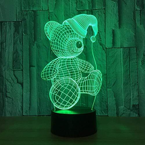 Nette Bier 3D Visuelle Lichter 7 Farbe LED Nachtlicht Touch Weihnachten Hut Tischlampe Baby Schlafen Stimmung Lampe Weihnachtsgeschenk