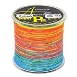 8-fach geflochtene Angelschnur 300 m Multi-color. Japan PE braided line in verschiedenen Stärken 70lbs