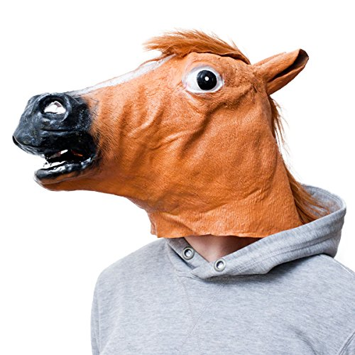 Goods & Gadgets Masque de cheval en latex pour carnaval ou Halloween