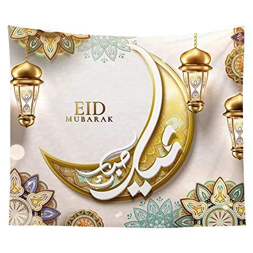 KHKH Muslim Wandteppich Eid Ramadan Gedruckt Tel...