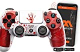 SMART 'Bloody Hands white' Ps4 Rapid Fire Custom Modded Controller 40 Mods for All Major Shooter Games & More with CUSTOM TOUCHPAD