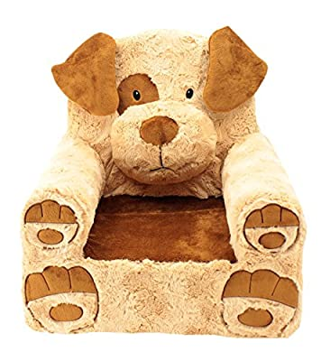 Animal Adventure | Sweet Seats | Tan Dog Children's Plush Chair