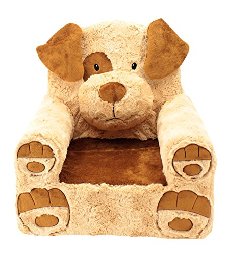 Animal Adventure | Sweet Seats | Tan Dog Children's Plush Chair