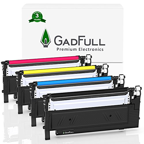 GadFull Set di 4 Cartucce Toner compatibile con Samsung CLP-360 | CLP-366 | CLP-365 | CLP-368 | CLX-3300 | CLX-3305 | CLX-3306 | C460W | C410W | Corrisponde al CLTK406S / ELS originale |1500 pagine