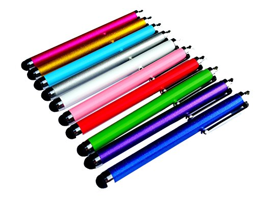 PENCILUPNOSE 10 x QUALITY STYLUS PENS for TOUCH SCREENS, IPAD , TABLET , IPHONE, SAMSUNG ETC