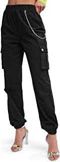 Women's High Waisted Solid Jogger Pants Outdoor Cargo Pants