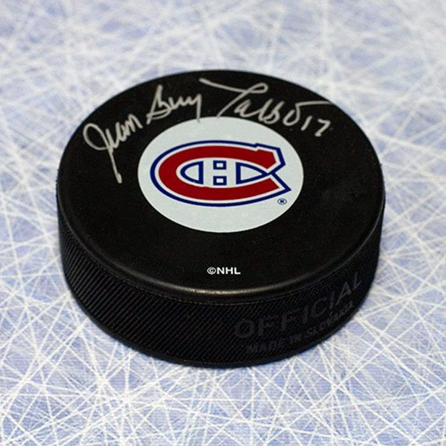 JeanGuy Talbot Montreal Canadiens Autographed Hockey Puck