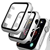 GeeRic 2PCS Pellicola Vetro Temperato Compatibile per Apple Watch 44mm Serie 6/5/4/SE Cover Anti-Urti Pellicola Copertura Completa Custodia Compatibile per Apple Watch 44mm Serie 6/5/4/SE Argent