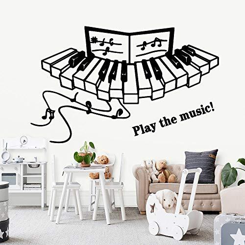 mlpnko Wohnzimmer Wandbilder Schlafzimmer abnehmbare dekorative Wandtattoos heiße Musik Vinyl Tapete,CJX10733-28x45cm