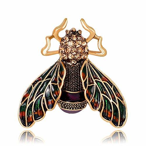 DODO.GOGO Mode série d'Insectes Brooch Mode européenne et américaine rétro Alliage Goutte Broche d'Huile