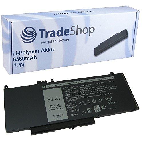 Trade-Shop High-Performance Li-Polymer Battery 7.4 V / 6460 mAh for Dell Latitude 3150 3160 E5250 E5450 E5550 Replaces 07FR5J 08V5GX 0F5WW5 0R9XM9 0WYJC2 6MT4T