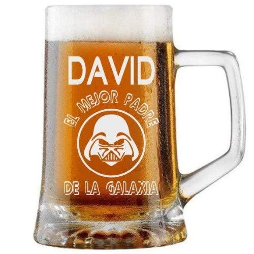 Jarra de Cerveza Personalizada Día del Padre GALAXIA DE MI PADRE Regalo Grabado y...