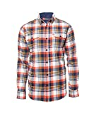 American Outdoorsman The Montana Everyday Cotton Flannel Shirt for Men (XX Large, Orange Navy)