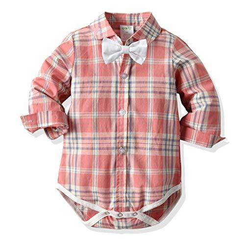 junkai Gentleman Baby Boy Clothing Camisa Infantil Blusa Ropa Boda Recién Nacidos Mamelucos Bebés Monos Manga Larga Baby Boy Jumpsuit