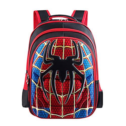 Sac à Dos Enfant Yuan Ou Garçon Superman Batman Spider-Man Captain America Cartable de Maternelle pour Enfants 34 * 25 * 13 cm Rouge Spiderman BS