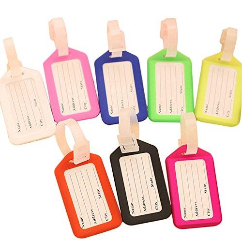 Demarkt Kofferanhänger Kofferschild Gepäckschild Gepäckanhänger mit Namensschild Adressschild Zufällige Farben