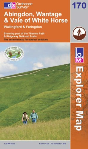 OS Explorer map 170 : Abingdon, Wantage & Vale of White Horse