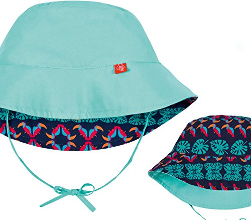 Lässig Splash & Fun Sun Protection Bucket Hat / Wendbarer Baby Sonnenhut / UV-Schutz 50+, Boys, aqua, neugeboren, 0 - 6 Monate