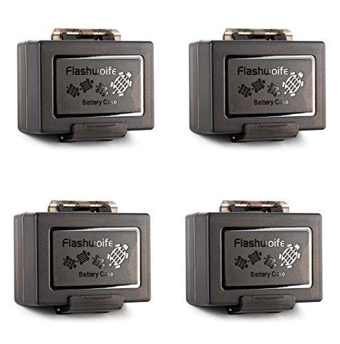 Flashwoife Turtle-UNBC4 4X wasserdichte Universal-Etui Turtle-UNBC1 Schutzbox für Kameraakku bis max. 61 x 41 x 22 mm 2 in 1 Mehrfachfunktion Box Cards Hülle mit verschiedenen Schaumstoffeinlagen