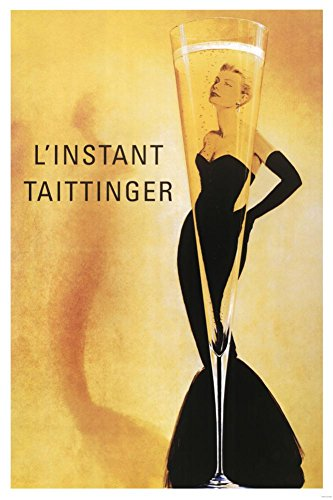 (24x36) L'Instant Taittinger (Grace Kelly Champagne Ad) Art Poster Print