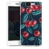 DeinDesign Hard Hülle kompatibel mit Wiko Highway Schutzhülle weiß Smartphone Backcover Kirsche Obst Malerei