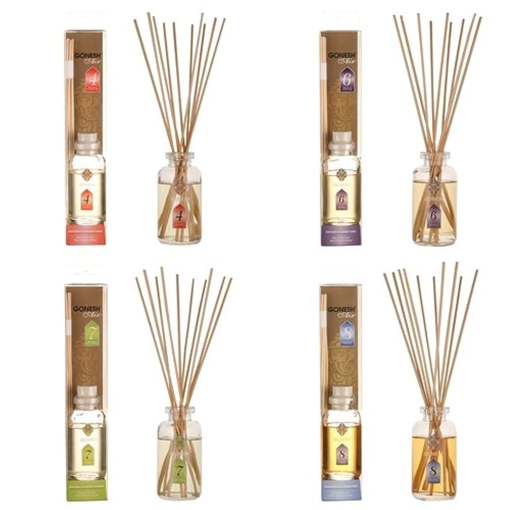 影響力のあるトンネルギネスガーネッシュ GONESH リードディフューザー 4つ(No.4、No.6、No.7、No.8)の香りが楽しめる4個セット 日本国内正規品