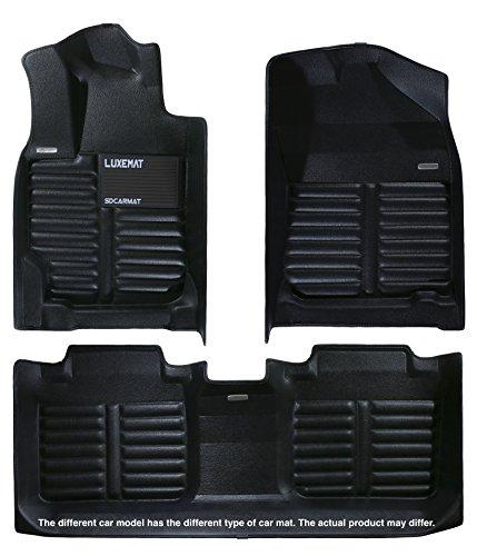Luxemat Alfombrilla de coche premium para Toyota Corolla 2014-18 (negro), antideslizante para suelo automático, resistente al agua y a prueba de suciedad, respetuosa con el medio ambiente y fácil de limpiar | mejor que la alfombrilla de goma para coche