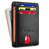 Minimalist Slim Front Pocket Wallets for Men or Women with RFID Blocking