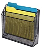 1InTheOffice 3 Tiers File Folder Organizer, Desk Sorter, Black Mesh
