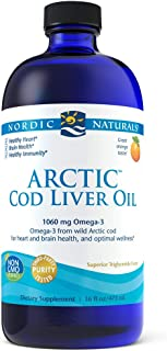 Nordic Naturals Arctic CLO - Cod Liver Oil Promotes Heart and Brain Health, Supports Immune and Nervous Systems, Orange, 16 Fl Oz